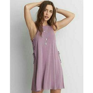 AEO Soft &Sexy Sleeveless Side Up Lace Shift Dress